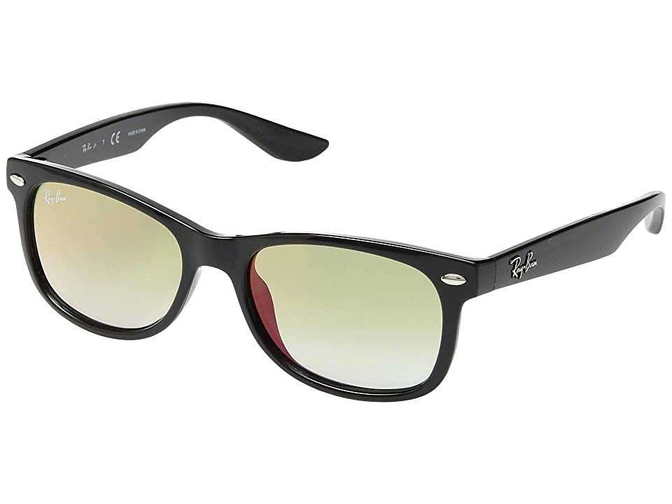 Ray-Ban Junior RJ9052S New Wayfarer 47mm (Youth) (Black 5) Fashion Sunglasses