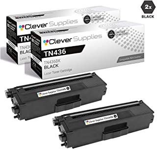 CS Compatible Toner Cartridge Replacement for Brother TN436 TN-436 TN436BK 2 Black for HL-L8360CDW HL-L8360CDWT HL-L9310CDW HL-L9310CDWTT MFC-L8900CDW MFC-L9570CDW MFC-L9570CDWT