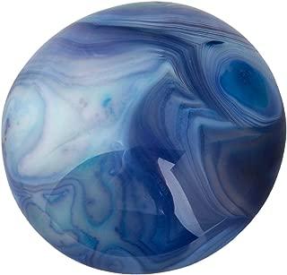 TUMBEELLUWA Palm Stone Healing Crystal Quartz Irregular Polished Therapy Energy Pocket Worry Stones,Dyed Blue Agate