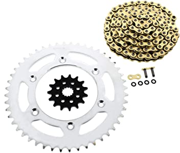 1996-2004 fits KTM 300 EXC CZ Gold MX Chain And Sprocket 15//48 120L