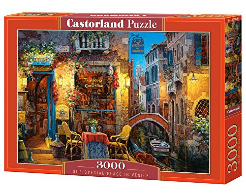 Castorland Hobby Panoramic Our Special Place In Venice Puzzle 3000 Pezzi Set, Multicolore, C-300426-2