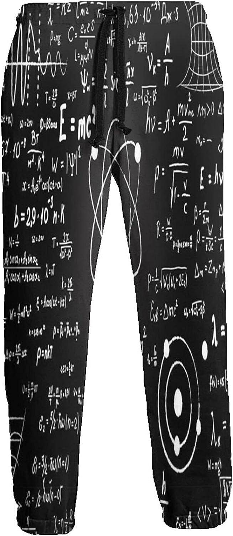 Feim-Ao Max 59% OFF 3D Sweatpants for Men Calculations Max 78% OFF Scientific Formulas P