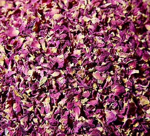 Die Gudn natürliches Blütenkonfetti (100 Gr. / 1,2 Liter, aus getrockneten Rosenblätter) Konfetti/Blumenkonfetti aus echten Rosen z.B. als Deko für Hochzeit oder Wurfkonfetti