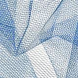 Falk Fabrics LLC Nylon Net Sapphire Blue Fabric Stoff,
