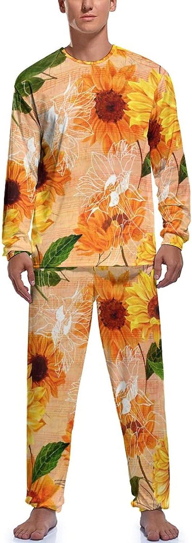 Golden Sunflower Men's Pajama Set 2021 model Long Sleeve and Shirt P wholesale