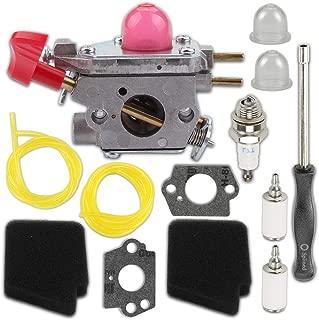 Kaymon 545081857 C1U-W43B Carburetor Air Filter for Poulan VS-2 BVM200FE Weedeater Leaf Blower Craftsman 358.794763 Zama C1U-W43 Carb Adjust Tool Primer Bulb Fuel Filter Spark Plug Tune Up Kit