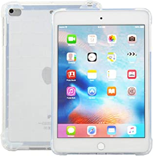 iPad Mini Case, iPad Mini 2/3/4 Case [Crystal Clear] - JZCreater TPU Case [Shock Absorption] with Transparent Hard Plastic Back Plate and Soft TPU Gel Bumper - Clear