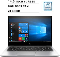 2019 Premium HP EliteBook 840 14 Inch FHD Business Laptop (Intel Core i5-8250U up to 3.4 GHz, 8GB DDR4 RAM, 2TB FHDD, WiFi, Bluetooth, FHDMI, Windows 10 Pro) (Silver)