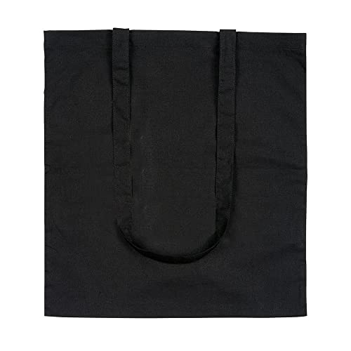 e29090e61 eBuyGB Pack of 10 Cotton Shopping Canvas and Beach Tote Bag 42 cm, Black