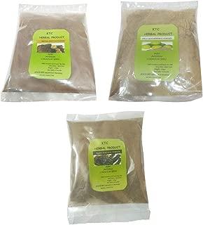 Pure & Natural Combo of 3 - Amla, Retha (Aritha), Shikakai Powder for Natural & Healthy hair (100 gram each) by krishna07 traders
