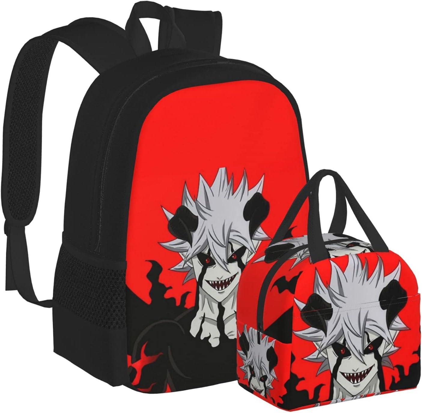 Black Max 77% OFF Clover Backpack Set Asta Sale item + Men's Women's Anime Me
