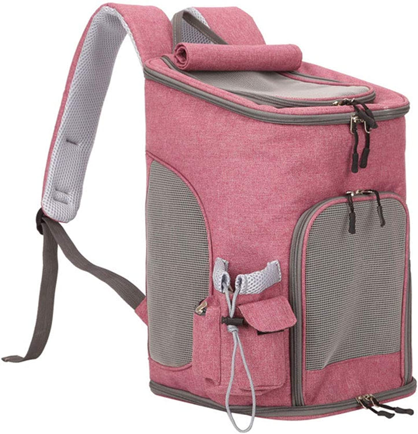 Pet Travel Carrier Pet Carrier Soft Animal Carriers  Portable SoftSided Air Travel Bag  Best for Small Or Medium Dog and Cat Ourtdoor Pet Bag (color   Dark Pink)
