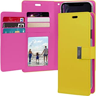 Goospery Rich Wallet for Apple iPhone XR Case (2018) Extra Card Slots Leather Flip Cover (Yellow) IP9-RIC-YEL