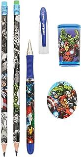 Kit Escolar Avengers, Blister com 5 Itens, Molin 22230, Multicor