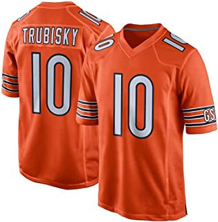 Franklin Sports Men's Youth Chicago Bears Mitchell Trubisky Orange Loose Jersey