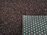 Rasenteppich Kunstrasen Premium dunkelbraun Velours Weich Meterware, verschiedene Größen, mit Drainage-Noppen, wasserdurchlässig (200x250 cm)