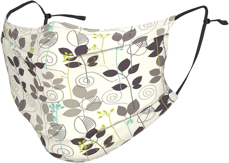 Fashion Face Mask With Filter Pocket Washable Face Bandanas Balaclava Reusable Fabric Mask For Women