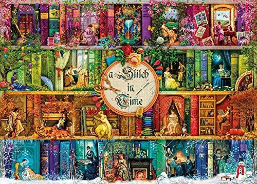 HUADADA Puzzle 1000 Teile, Puzzle 70x50cm Karton Puzzle Erwachsene Puzzle Kinder (A Stitch in Time)