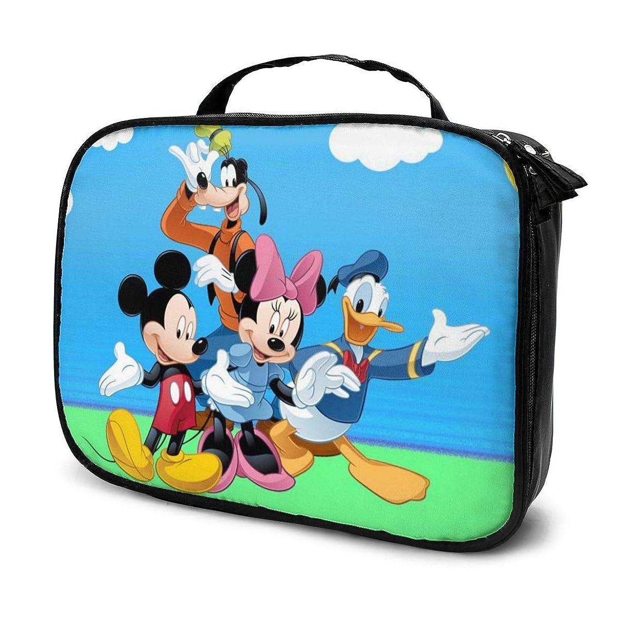 農業苦難等しいDaituドナルドダックミッキーマウスとグーフィー 化粧品袋の女性旅行バッグ収納大容量防水アクセサリー旅行