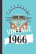Vintage 1966: Unique Novelty Vintage Gifts For Men And Women: Beautiful Lined Notebook