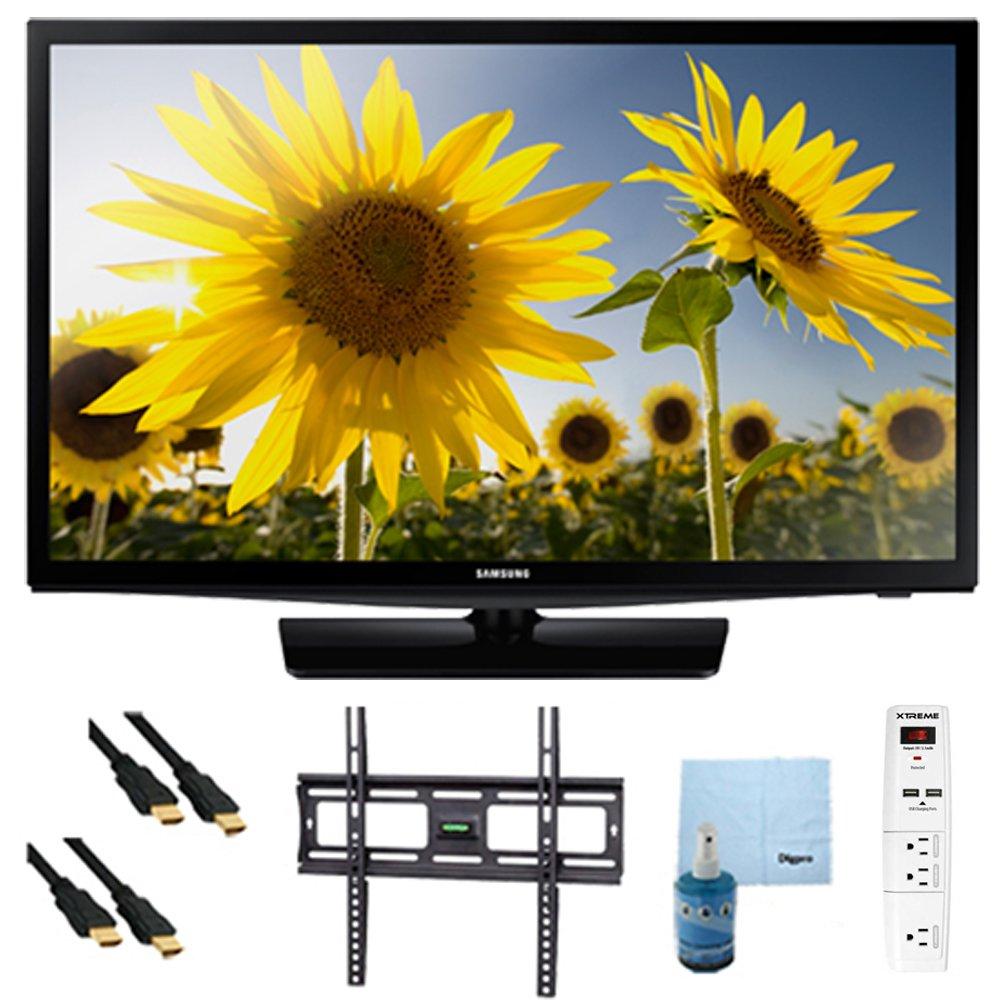 un24h4000 – 24-inch 720P HD SLIM LED TV CMR 120 Plus Bundle Pack. Incluye TV, soporte