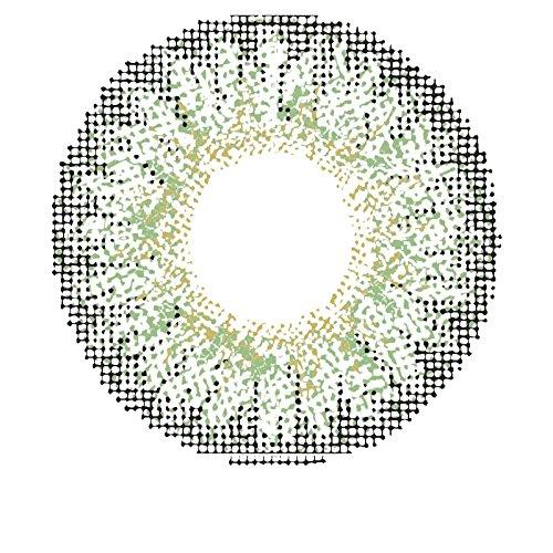 Matlens - Pro Trend Farbige Kontaktlinsen mit Stärke natürlich grün green TriColor circle lens Big Eyes GPW-353 2 Linsen 1 Kontaktlinsenbehälter 1 Pflegemittel 50ml