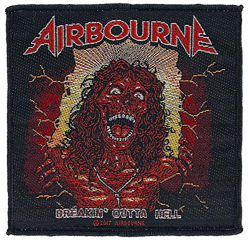 Airbourne Breakin' outta hell Unisex Patch Mehrfarbig 100% Polyester Band-Merch, Bands