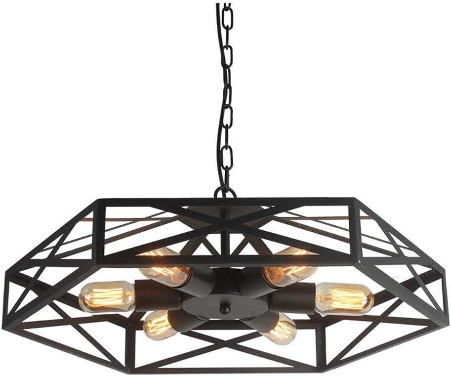 DLGGO Creativa del ventilador Pantalla - Shade industrial lámpara del vintage del arte del hierro jaula de metal luz pendiente faroles colgantes E27 Sala de estar Pantalla de lámpara de techo for Mini