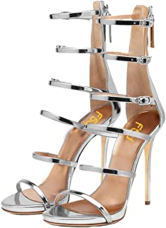 Women Sexy Strappy Gladiator Wedding Sandals High Heel Stiletto Shoes for Summer Size 4-15 US