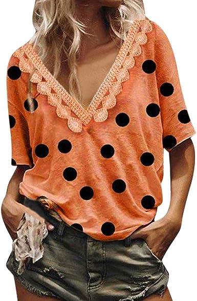 Berimaterry Camisa de Manga Corta de Botón de Mujer, Tallas ...
