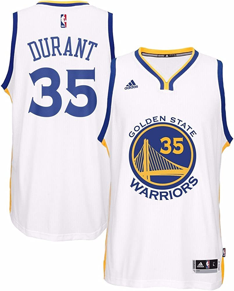 adidas Kevin Durant Golden State Warriors NBA Home Climacool Swingman Jersey for Men