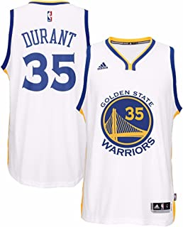 eda034b0aca adidas Kevin Durant Golden State Warriors NBA White 2016-17 Home Climacool  Swingman Jersey for