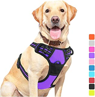 Vovodog Dog Harness No-Pull Pet Harness, Adjustable Outdoor Walking Pet Reflective Oxford Soft Vest with 2 Metal Rings and...