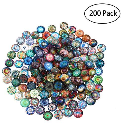ROSENICE 200pcs 12mm Tesselles de Mosaïque en verre pour artisanat Fabrication de bijoux