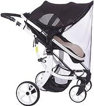 MHOYI Toldo Protector Solar Universal para Cochecitos Capazos Carrito de Bebé Sillas de Paseo Sombrilla Parasol Protección UV (Negro 2)