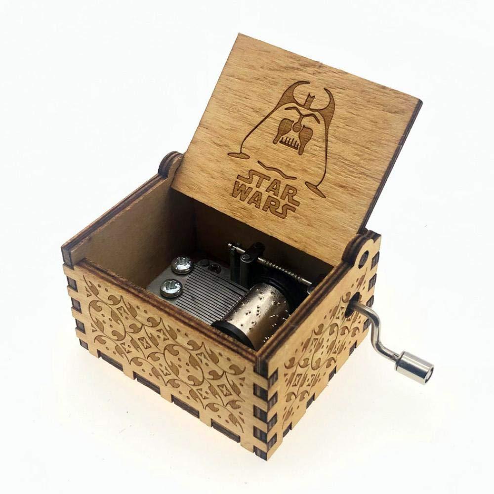 FGHFG Caja musical de Star Wars personalizable, diseño de Star ...