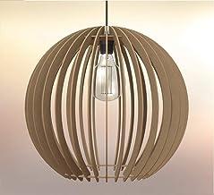 Lampadario rustico moderno Paralume in legno Design Sfera - Dimensioni extra