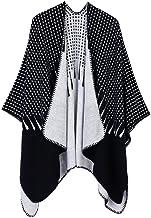 SLM-max sjaal vrouwen, Dames Herfst Winter Sjaal Cloak Tassel Cape Fashion Mantle Sjaal Warm Zachte Kerchief Wrap Sjaal (K...