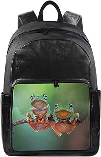 Lustiger Rucksack mit süßem Tier-Frosch-Muster, Schultertasche, Wandern, Camping, Tagesrucksack, Schule, Reisen, Computert...