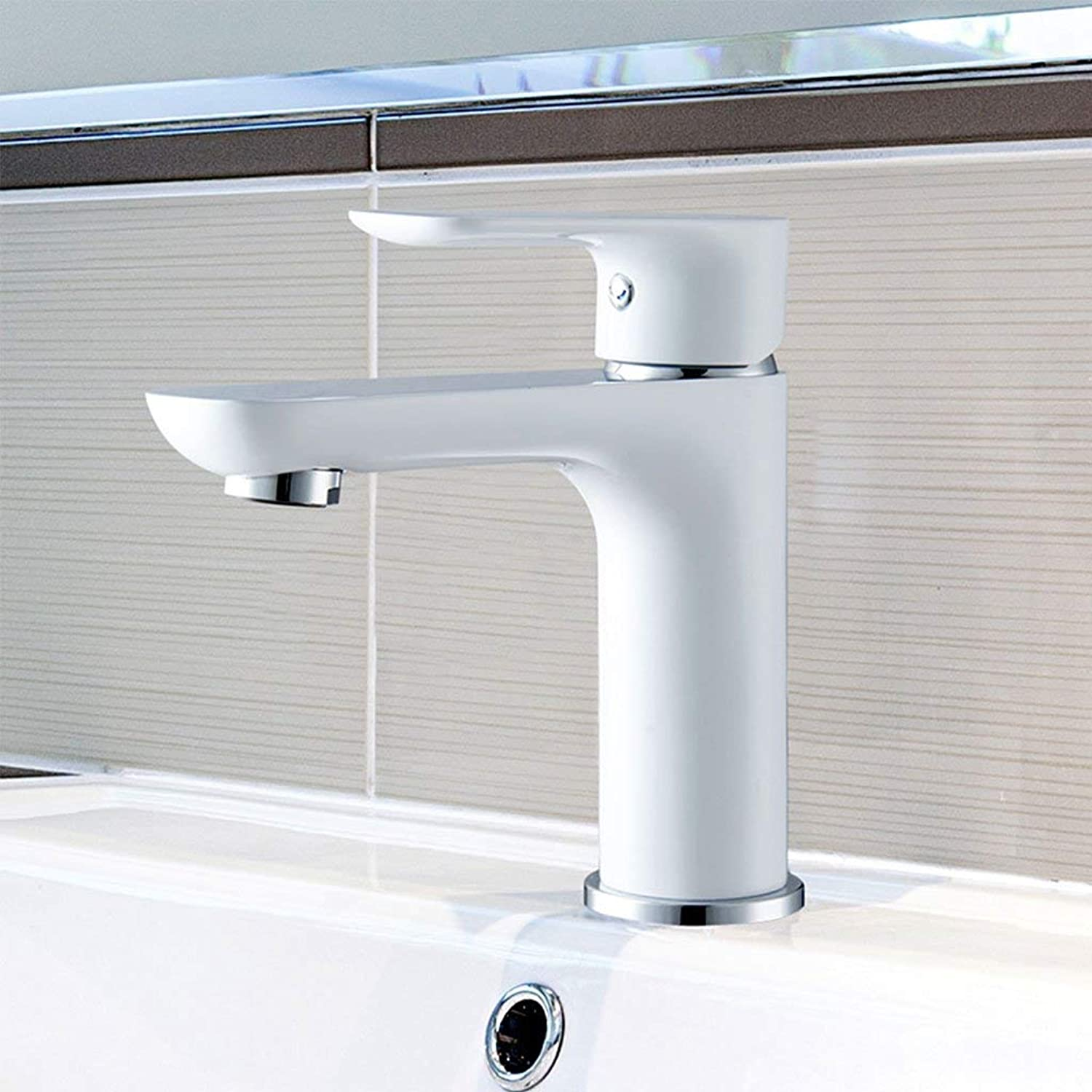 BMY White Modern Fashion European Basin Mixer Creative High-end Hot And Cold Faucet (Size   A)