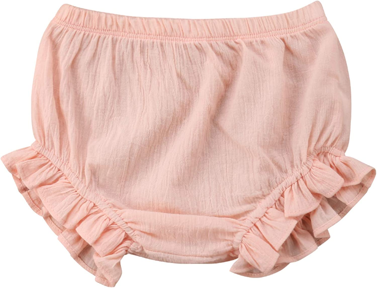 Lefyira Newborn Toddler Baby Girls Diaper Cover Ruffle Bloomers Solid Color Underwear Shorts Pants for Photos