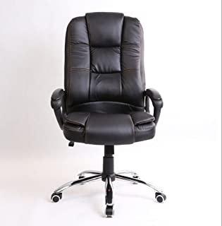 JXBEAUTY Comfortable High Back Rotation New Executive Premium PU Faux Leather Home Office Computer Chair Black