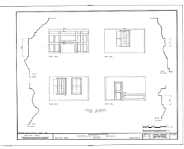 Historic Pictoric Blueprint Diagram HABS Mass,10-NANT,25- (Sheet 9 of 10) - Swain-Mitchell House, 1 Vestal Street, Nantucket, Nantucket County, MA 44in x 32in