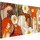 Decoración de la mesa Gustav Klimt Mural - 200 x 80 cm Vista de impresión en lienzo Salón Apartamento - listo para colgar - 018555a