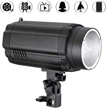 Vbestlife Mini Photography Studio Flash Light, 300W 5500K GN64 Strobe Photo Speedlight Flash Lamp in Aluminum Six-Level Aperture Adjustment Interface Compatible with Standard Reflectors Softboxes(US)