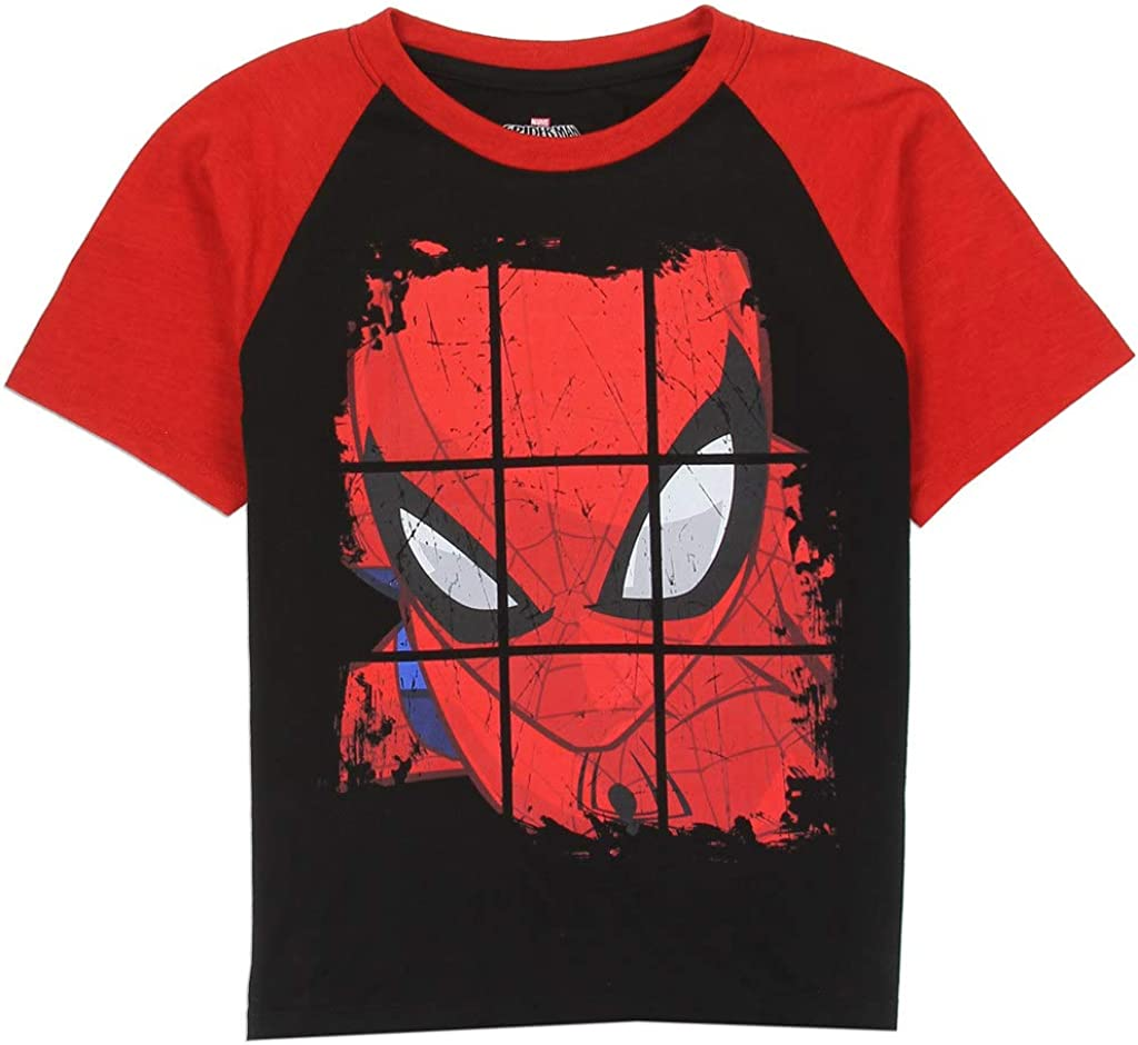 Spiderman Little Boys Raglan Tee, Black/Red