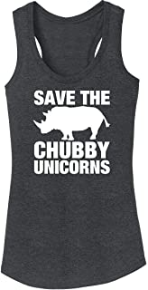 Ladies Tri-Blend Tank Top Save The Chubby Unicorns Funny Tee Black Frost 3XL