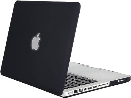 MOSISO Custodia Rigida Compatibile con Vecchio MacBook PRO 13 Pollici A1278(Versione anticipata 2012/2011/2010/2009/2008),Plastica Caso Compatibile MacBook PRO 13 Pollici con CD-Rom,Nero