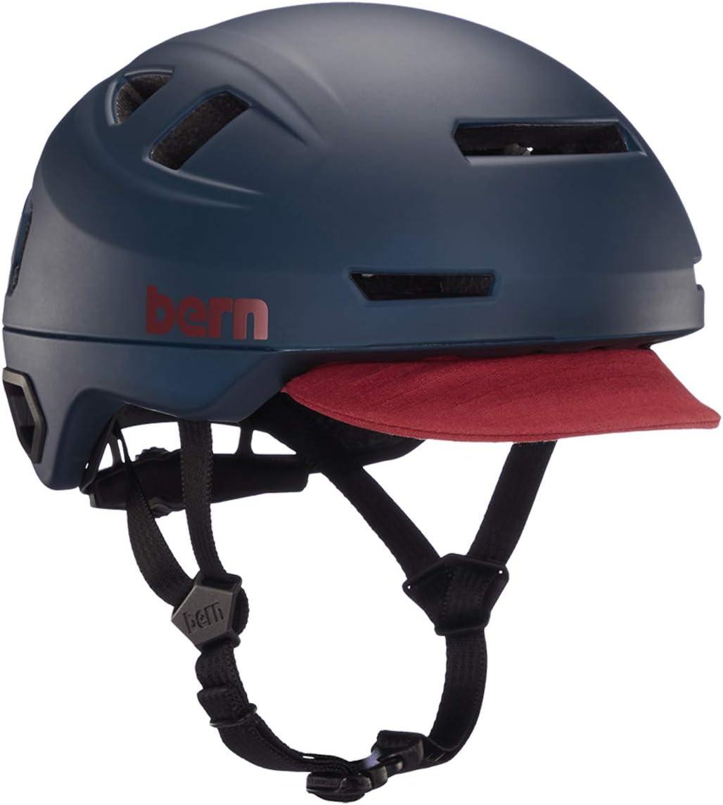 BERN, Hudson MIPS Casco de bicicleta con luz trasera LED integrada y compatibilidad con bloqueo en U para desplazamiento