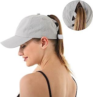 FASHIXD Ponytail Baseball Cap for Women Mesh Quick Dry Baseball Hat with Ponytail Hole
